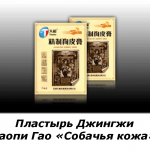 Пластырь Джингжи Гаопи Гао «Собачья кожа» неврологический