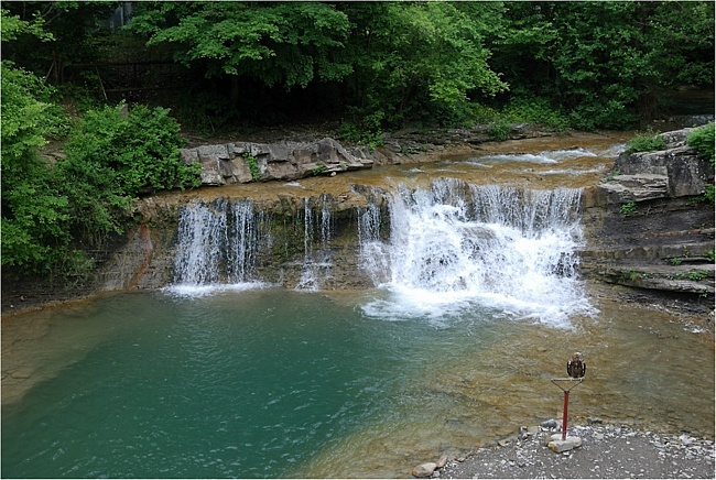 Водопад на реке Жане г. Геленджик село Возрождение