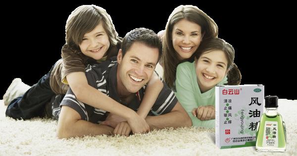 счастливая семья и нюхательное масло от простуды