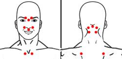 точки при простудных заболеваниях