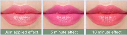меняет цвет губ